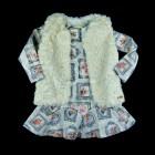 Vestido em Neoprene e Colete Kukiê - 036329