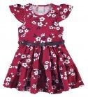 Vestido estampa floral com cinto - Malwee