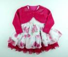 Vestido Estampado com Renda e Bolero Cattai - 038978