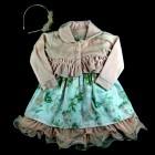 Vestido Renda com Bolero e Tiara Cattai - 038976