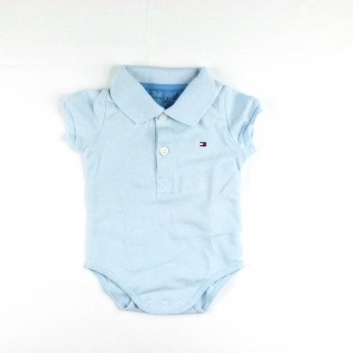 186922b5b Body Baby Basic Polo Tommy Hilfiger - 033890 Azul | Tutu Lelê.