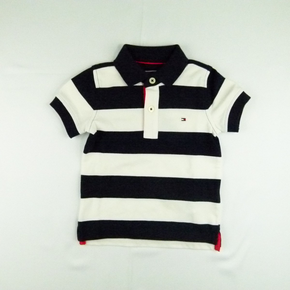 b6e1c27bf Camiseta Stretch Strip Polo Tommy Hilfiger - 033904 Azul Marinho ...