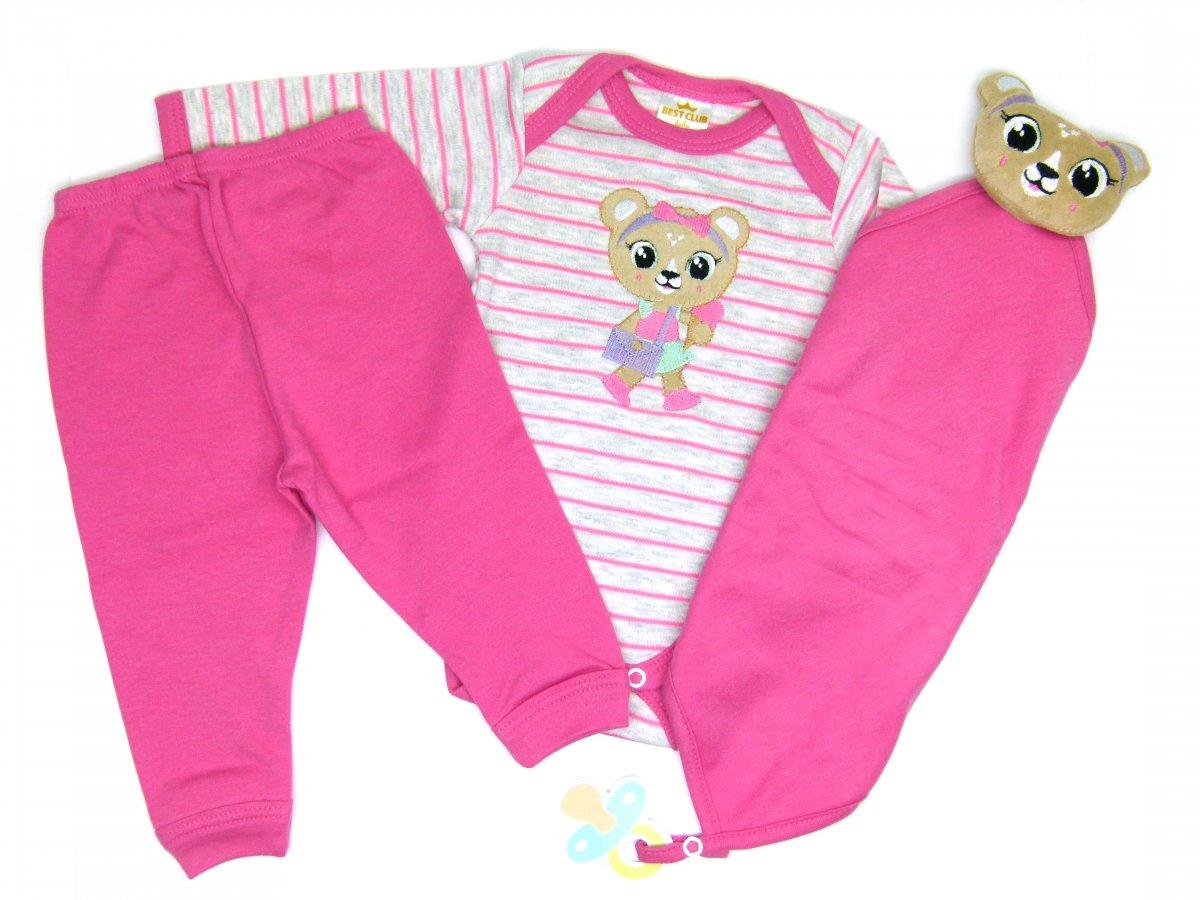 Conjunto body e calça com naninha - Best Club Rosa  68899e7546c