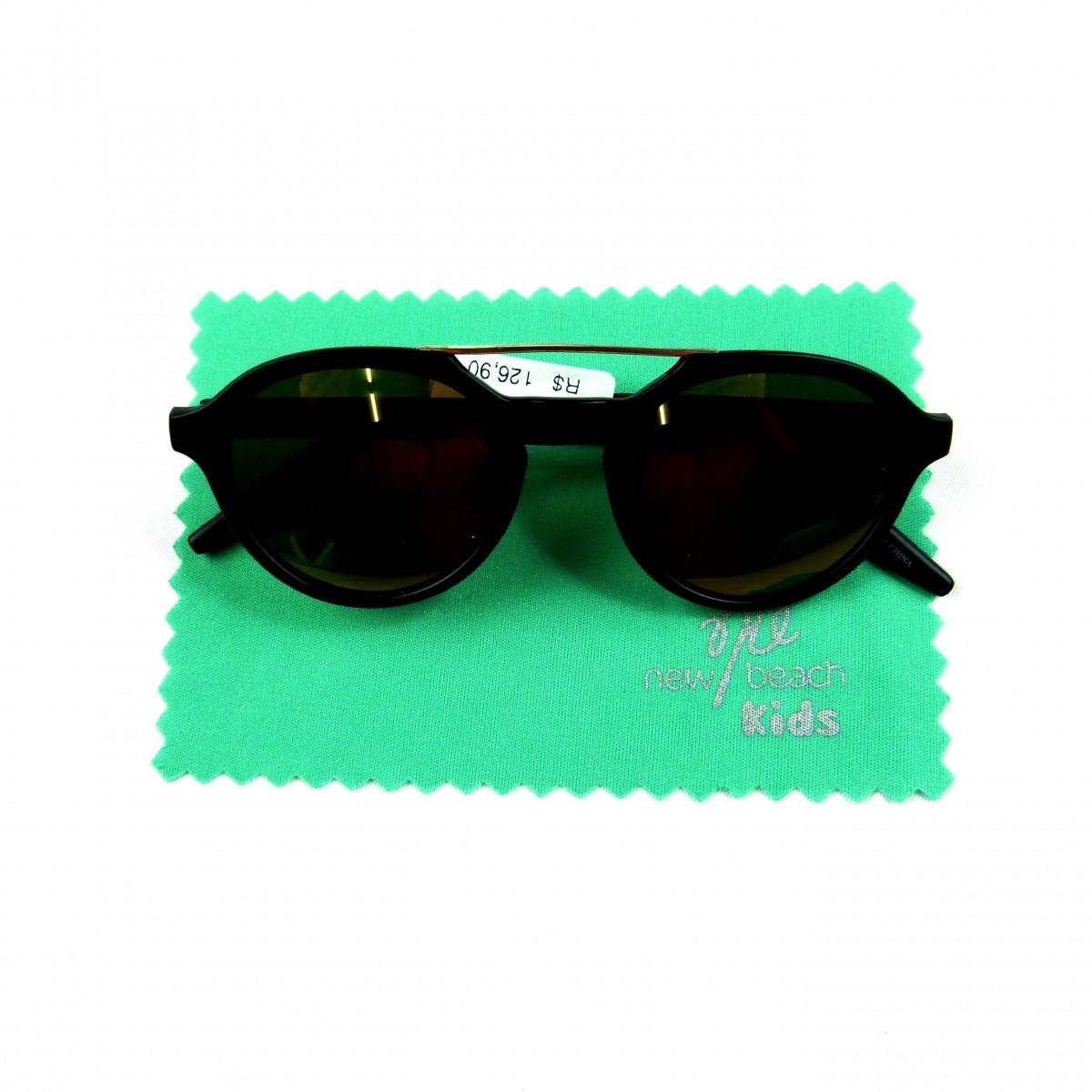 3197e12f2 Óculos Infantil Redondo Espelhado Recco - 035470/ 035471/ 035472 Preto |  Tutu Lelê.