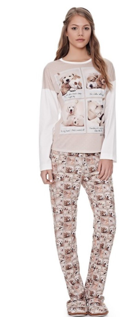 6d5655e765889d Pijama Comfort Buddies Adulto Lua Luá - 032744