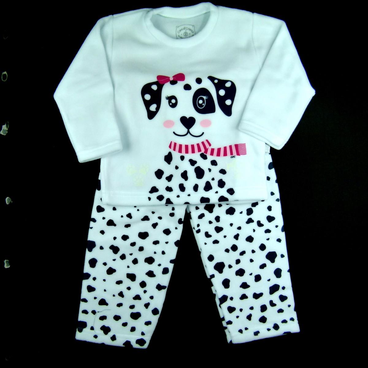 343207f34777aa Pijama Dálmata Soft Cara de Criança - 038440