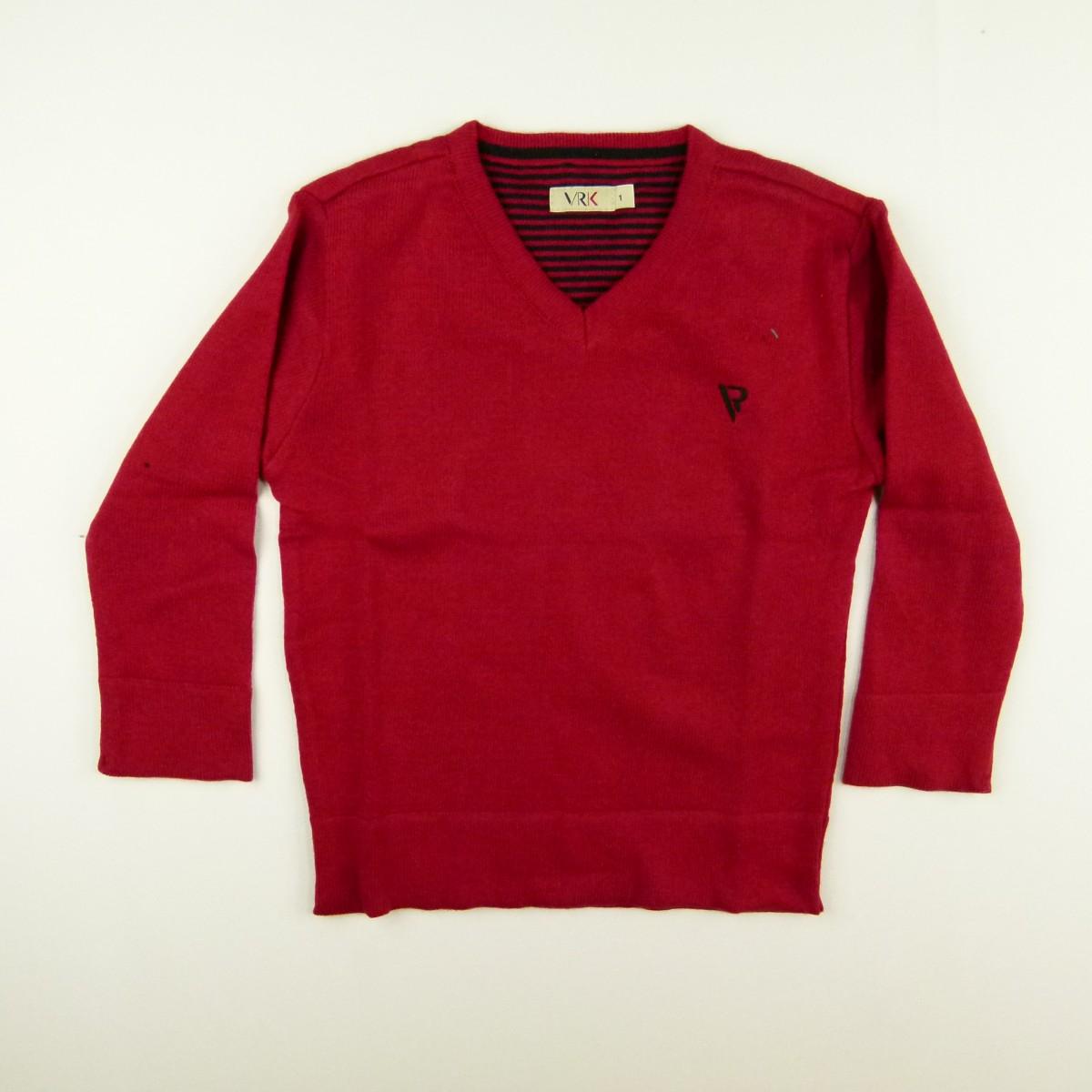 Sweter Gola V Básico VR - 031260 Vermelho  844291c1847