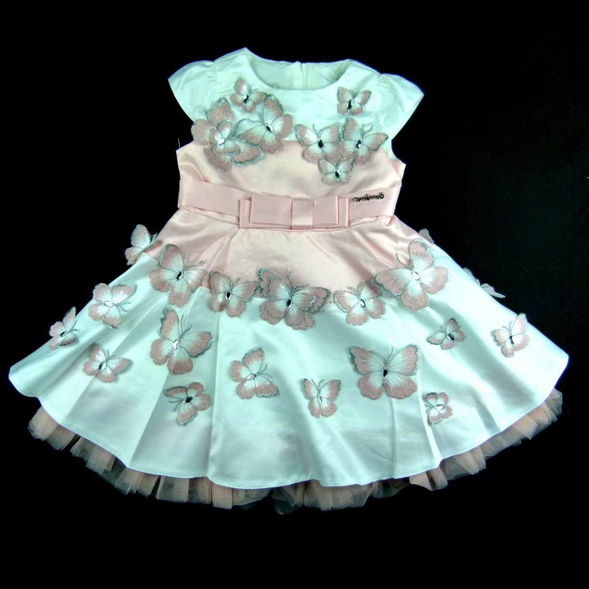 ce9b764f2 Vestido Borboletas Animê Petite - 036132 Rosa | Tutu Lelê.