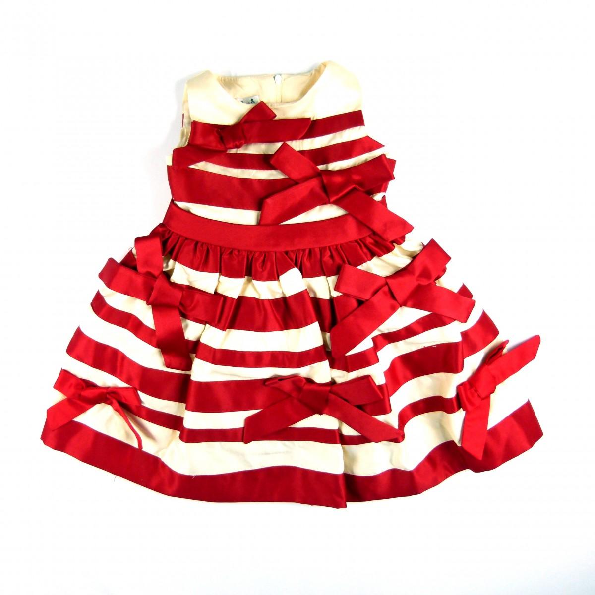 089079a0a6bcc Vestido Recortes com Laços Animê Petite - 034480 Vermelho   Tutu Lelê.