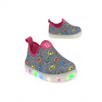 Imagem - Tênis LED Baby Shark Infantil Novope 318n943 - 20000091318N94320004004