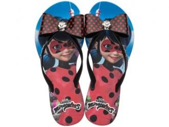 Imagem - Chinelo Infantil Menina Ladybug Laço Grendene 21702 cód: 200004052170220001354