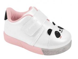 Imagem - Tênis Com Luzinha Baby Fun Panda Pampili Infantil Menina 471.010 - 20000058471.0102