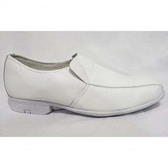Imagem - Sapato Branco Masculino Brás America Branco 5018 cód: 2000013450182