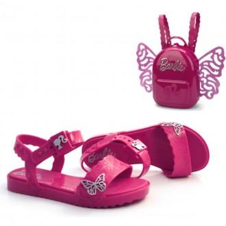 Imagem - Sandalia Infantil Barbie Brinde Mochila 22370 cód: 200000542237020000294
