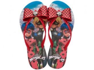 Imagem - Chinelo Infantil Menina Ladybug Laço Grendene 21702 cód: 20000405217026