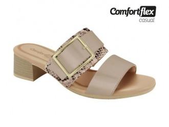 Imagem - Tamanco Feminino Croco Salto Quadrado Comfortflex 1977401 cód: 20000047197740120000089