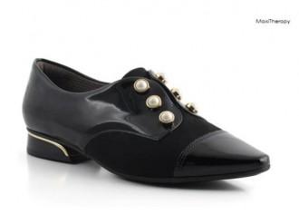 Imagem - Sapato Oxford Maxi Teraphy Feminino Piccadilly Preto 278003 - 2000004827800320001607