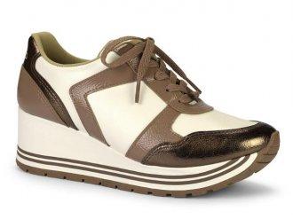 f6dc8451c0 Tênis Sneaker Feminino Flatform Anabela Dakota G1152
