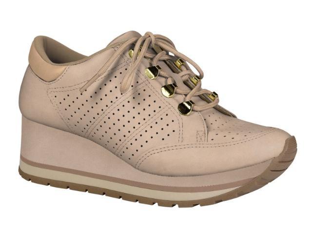 2fa317631 Tenis Sneaker Feminino Flatform Anabela Dakota G0531