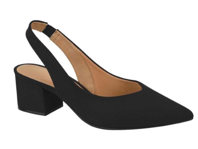 94cf9053c4 Sapato Chanel Feminino Salto Baixo Bico Fino Vizzano 1220.225