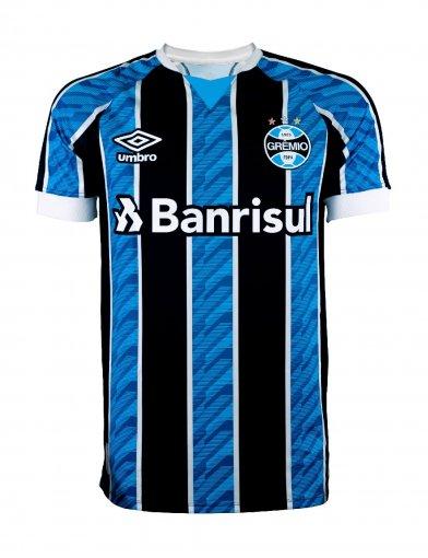 Camisa Grêmio Umbro Masculina I Tricolor Torcedor 2020