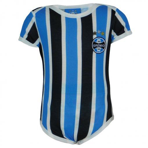 Body Grêmio Tricolor Manga Curta