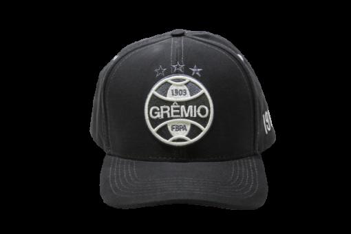 Boné Grêmio Aba Curva Logo Branco Bordado Unissex