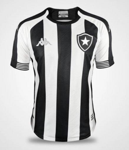Camisa Botafogo Oficial I Alvinegra 2020/21 Kappa