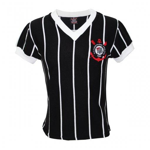 Camisa Corinthians Retrô Comemorativa 1970/80 Preta
