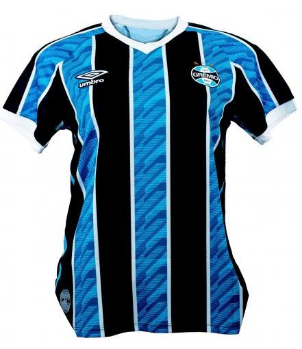 Camisa Grêmio Umbro Feminina I Tricolor Torcedor 2020