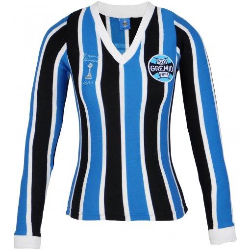 Camisa Grêmio Retrô Libertadores Manga Longa Feminina