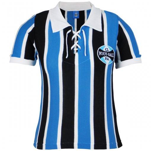 Camisa Grêmio Retrô 1929 C/ Cordinha Feminina