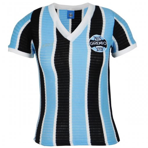Camisa Grêmio Retrô 1973 Nº7 Feminina