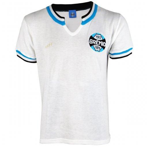 Camisa Grêmio Retrô 1981 Branca Masculina