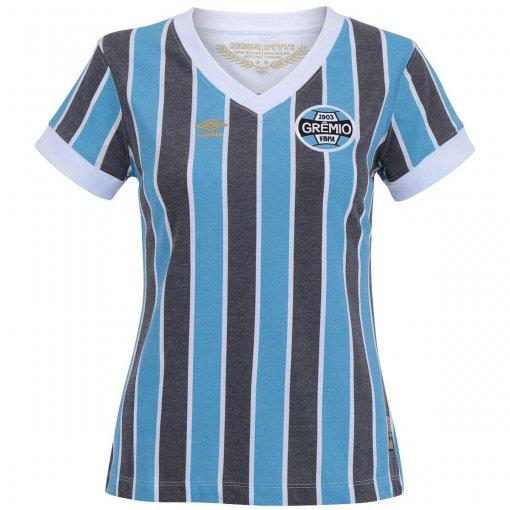 Camisa Grêmio Retrô 1983 Umbro Feminina
