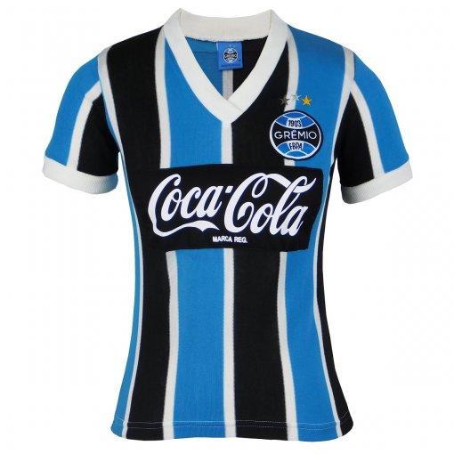 Camisa Grêmio Retrô Coca-Cola 1989 N°8 Feminina