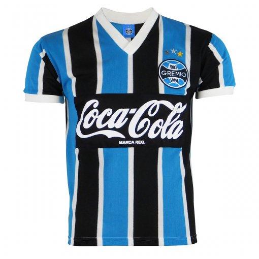 Camisa Grêmio Retrô Coca-Cola 1989 N°8 Masculina