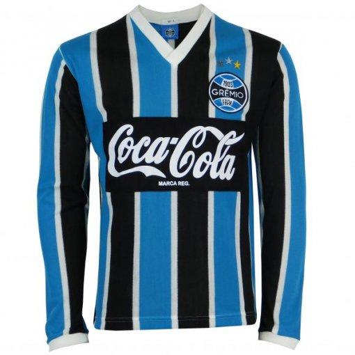 Camisa Manga Longa Grêmio Retrô 1989 Coca-Cola Masculina