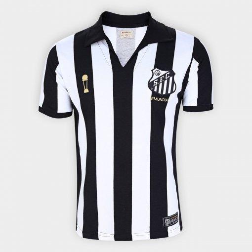 Camisa Santos Bi Mundial Retrô 62/63 Masculina