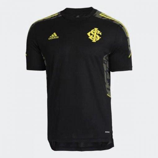 Camisa Treino Internacional Adidas 2021 Preta