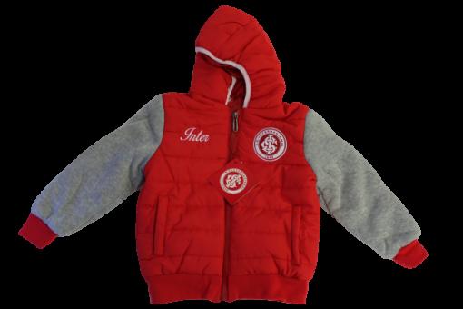 Jaqueta Infantil Vermelha e Cinza Internacional