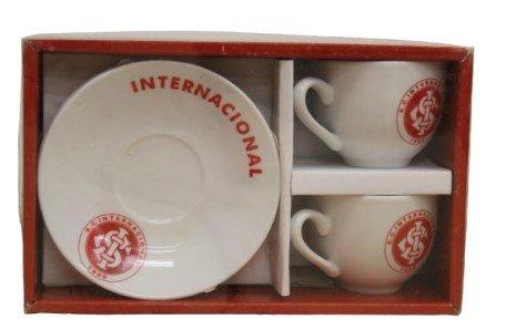 Kit 02 xícaras/pires Internacional