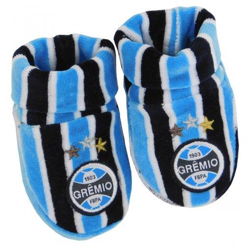 Sapatinho Plush Grêmio Bebê Tricolor