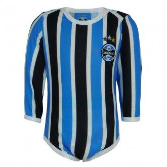 Imagem -  Body Grêmio Manga Longa Tricolor  cód: G675