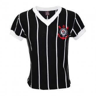 Imagem - Camisa Corinthians Retrô Comemorativa 1970/80 Preta cód: COR04