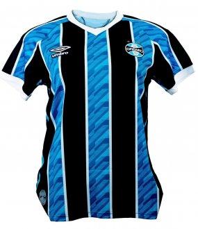 Imagem - Camisa Grêmio Umbro Feminina I Tricolor Torcedor 2020  cód: 100053530