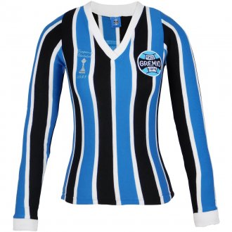 Imagem - Camisa Grêmio Retrô Libertadores Manga Longa Feminina cód: G470F