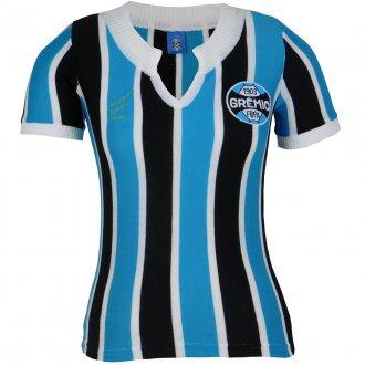 Imagem - Camisa Grêmio Retrô 1977 Nº 9 Feminina cód: G351