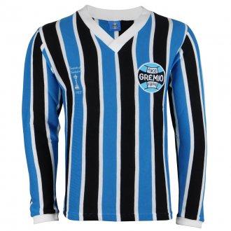 Imagem - Camisa Grêmio Retrô Libertadores Manga Longa Masculina cód: G470