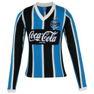 Imagem - Camisa Manga Longa Grêmio Retrô 1989 Coca-Cola Feminina cód: G67215